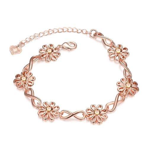 Rose Gold Plated White Zircon Bracelet