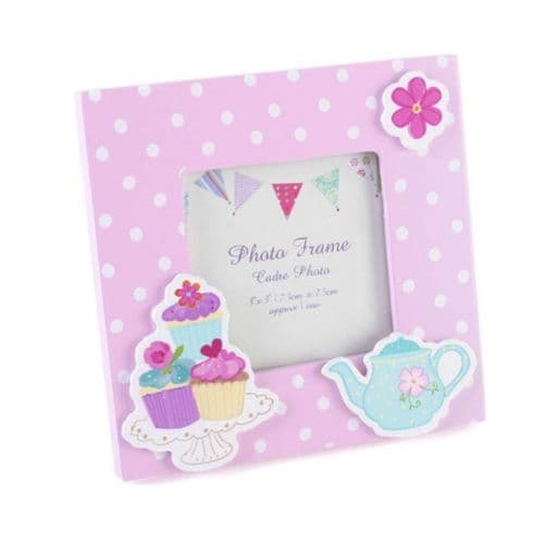 Tea Party Pink Photo Frame