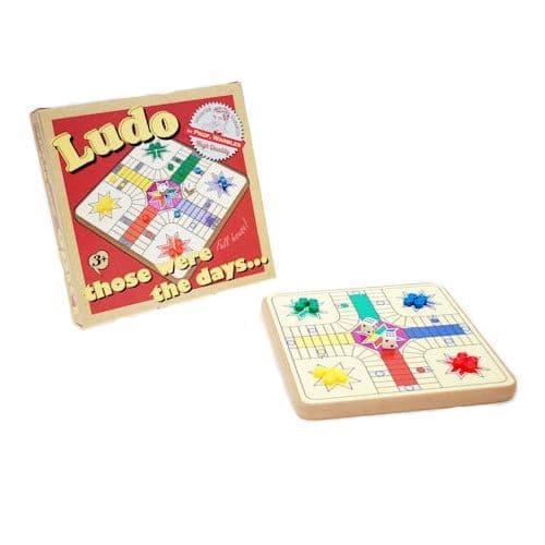Those Were The Days....Retro Wooden Ludo Game