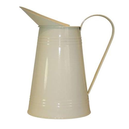 Vintage Style Plain Cream Metal Jug