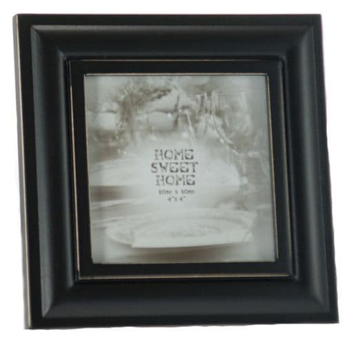 Vintage Style Square Black Wooden Home Sweet Home Photo Frame