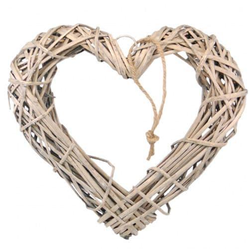Wicker Natural Wooden Hanging Heart