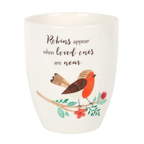 Winter Robin Design Plant Pot
