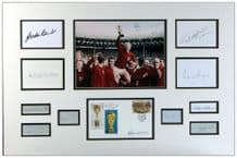 1966 World Cup England Team Autograph Display - Bobby Moore