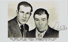 Abbott and Costello Autograph Photo