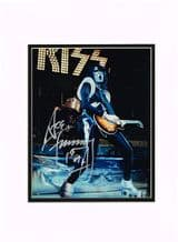 Ace Frehley Autograph Signed Photo - Kiss