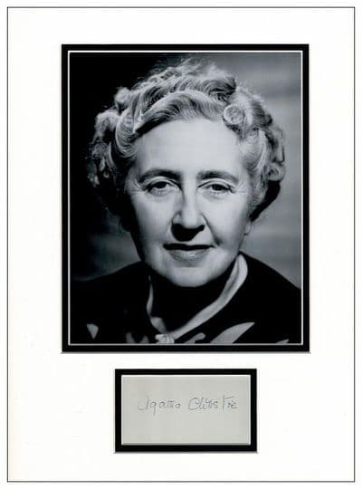 Agatha Christie Autograph Signed Display