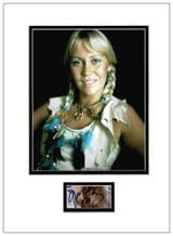 Agnetha Faltskog Autograph Display