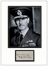 Air Chief Marshal Hugh Dowding Autograph Signed Display