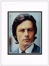 Alain Delon Autograph Signed Photo