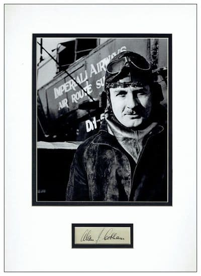 Alan Cobham Autograph Signed Display