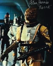 Alan Harris Autograph Signed Photo - Bossk