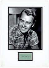Alan Ladd Autograph Signed Display