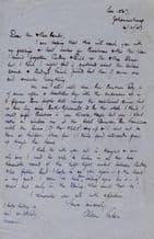 Alan Paton Autograph Letter Signed