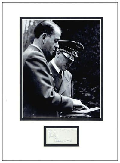 Albert Speer Autograph Signed Display