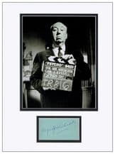 Alfred Hitchcock Autograph Signed