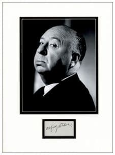Alfred Hitchcock Autograph Signed Display