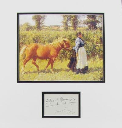 Alfred Munnings Autograph Signed Display