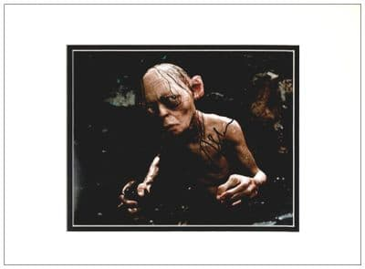 Andy Serkis Autograph Signed Photo Gollum LOTR