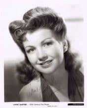 Anne Baxter Autograph Signed Photo