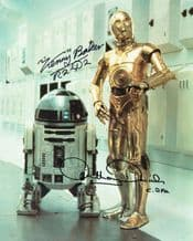 Anthony Daniels & Kenny Baker Autograph Signed Photo