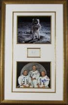 Apollo 11 Autograph Display - Armstrong, Aldrin & Collins