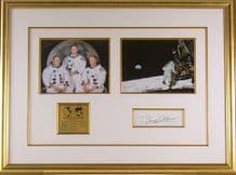 Apollo 11 Autograph Signed Display - Armstrong, Collins & Aldrin