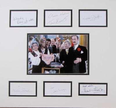 Are You Being Served? Autograph Signed Cast Display