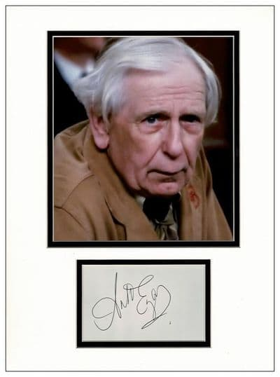 Arhur English Autograph Signed Display - Are You Being Served?