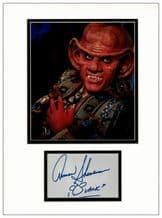 Armin Shimerman Autograph Signed Display - Deep Space Nine