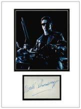 Arnold Schwarzenegger Autograph Signed Display