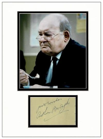 Arthur Brough Autograph Signed Display - Are You Being Served?