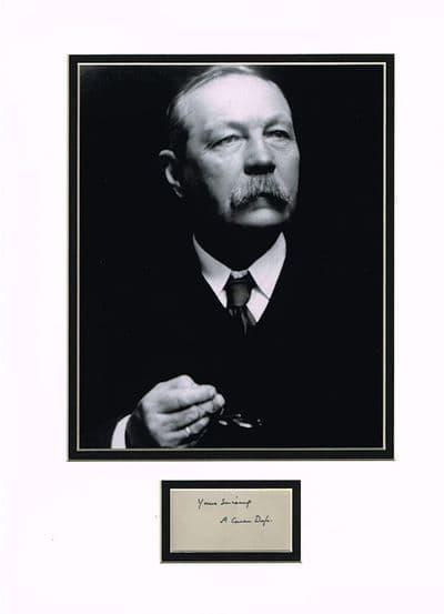 Arthur Conan Doyle Autograph Signed - Sherlock Holmes