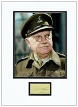 Arthur Lowe Autograph Signed Display - Dad's Army