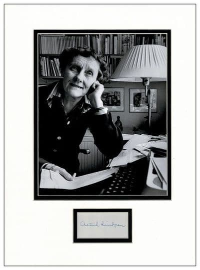 Astrid Lindgren Autograph Signed Display