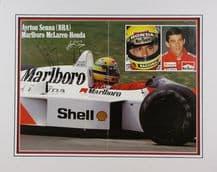 Ayrton Senna Autograph Signed Photo