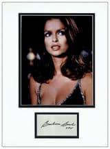 Barbara Bach Autograph Signed Display