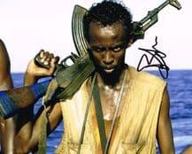 Barkhad Abdi Autograph Signed Photo - Captain Phillips