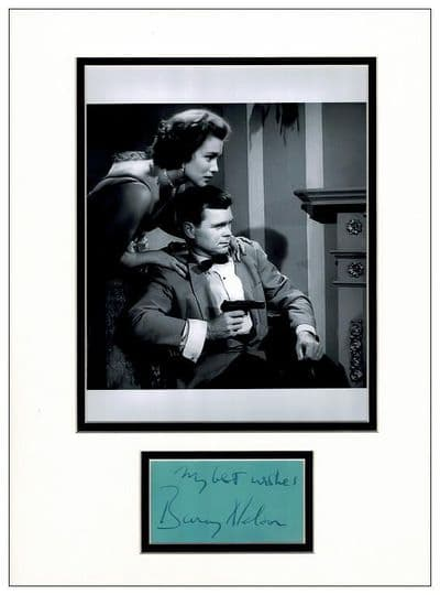 Barry Nelson Autograph Signed Display - James Bond