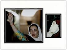 Benazir Bhutto Autograph Signed Photo Display