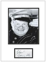 Benny Hill Autograph Signed Display