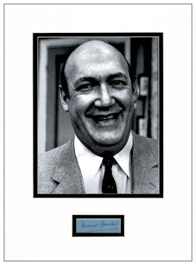 Bernard Bresslaw Autograph Signed Display - Carry On