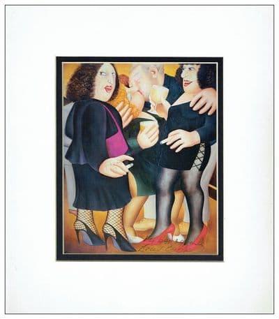 Beryl Cook Autograph Signed Art Print