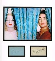 Bette Davis & Joan Crawford Autograph Signed Display
