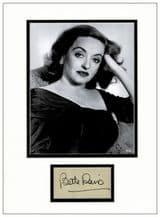 Bette Davis Signed Autograph Display