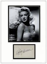 Betty Hutton Autograph Signed Display