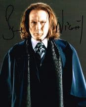 Bill Nighy Autograph Signed Photo - Rufus Scrimgeour
