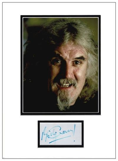 Billy Connolly Autograph Signed Display