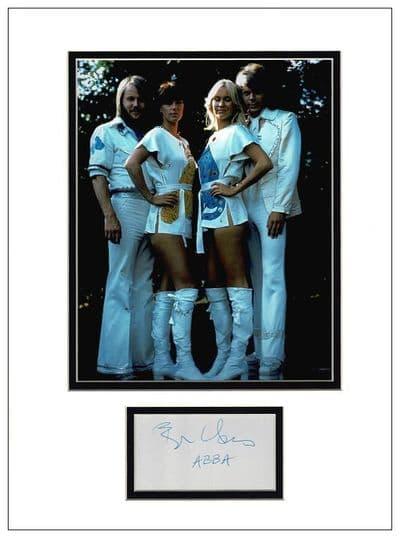 Bjorn Ulvaeus Autograph Signed Display