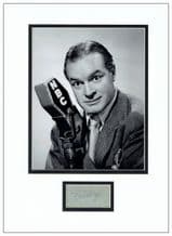 Bob Hope Autograph Signed Display